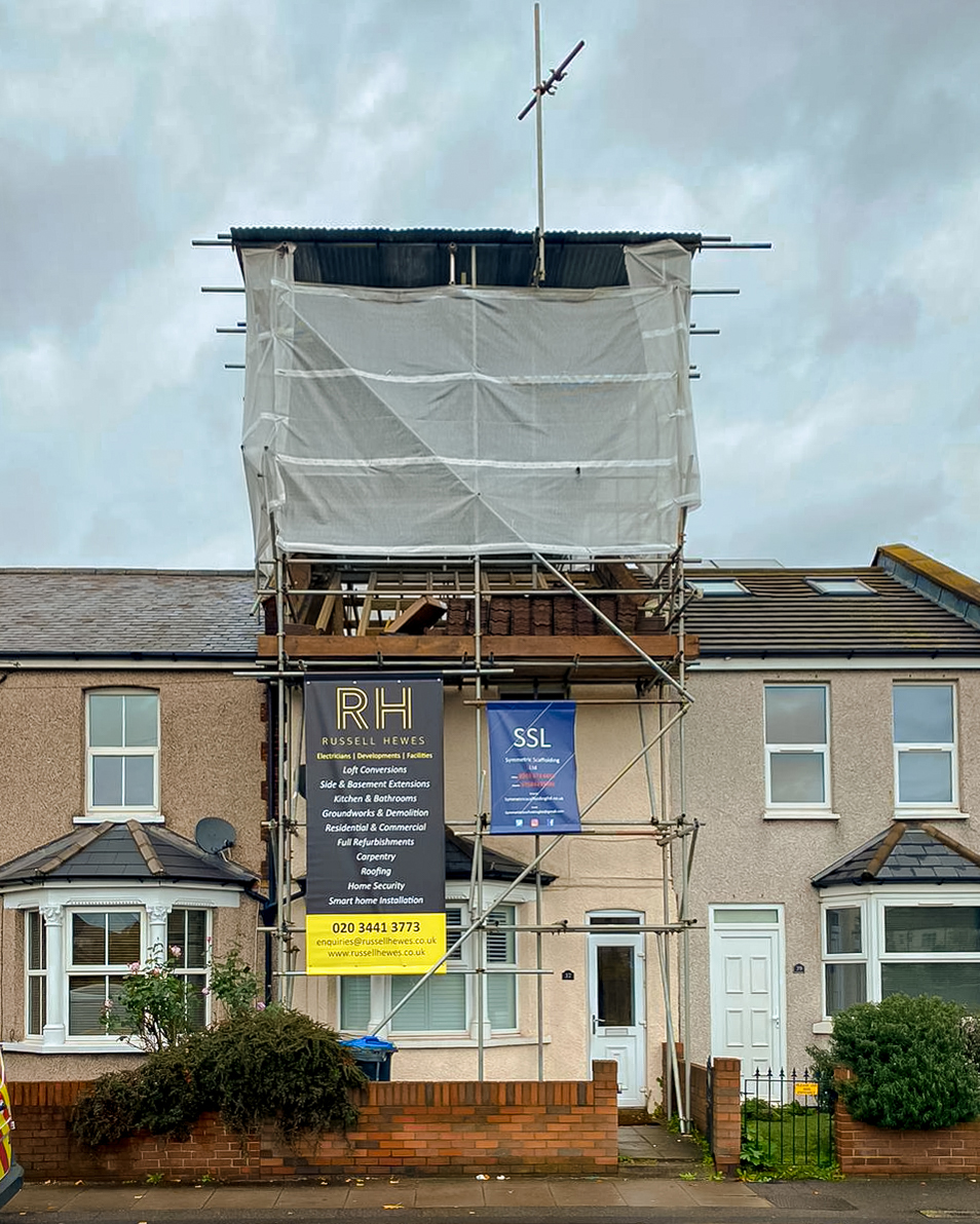 Russell Hewes loft conversion renovation in mitcham london work in progress