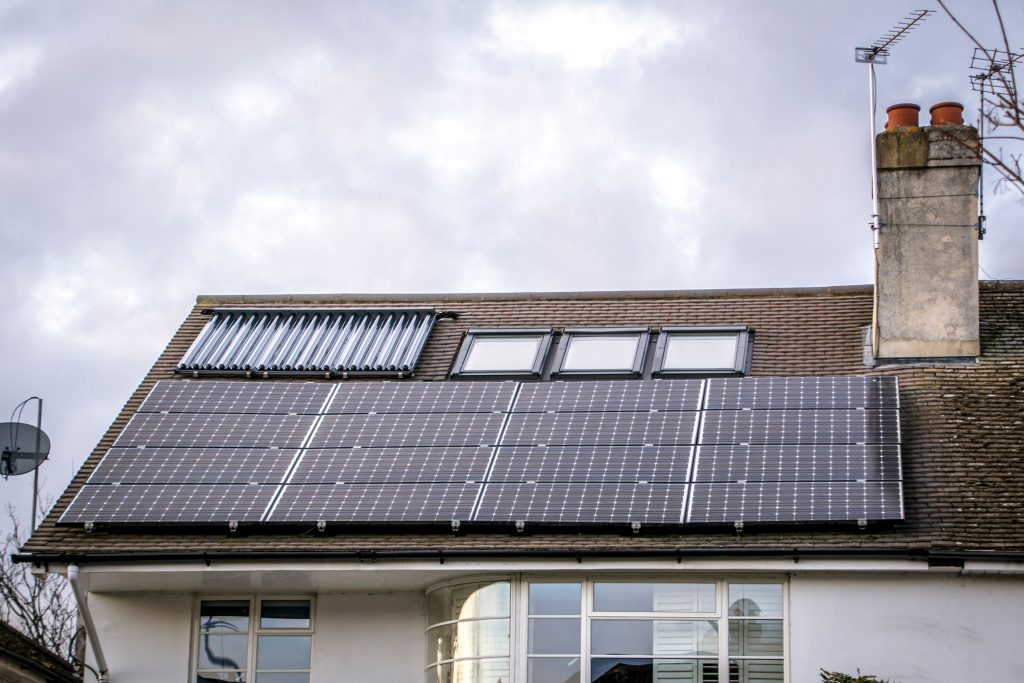 Russell Hewes solar panel installation London house